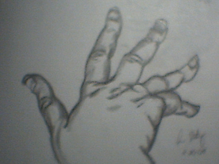 Blind Contour Hand by ClipsNStaples
