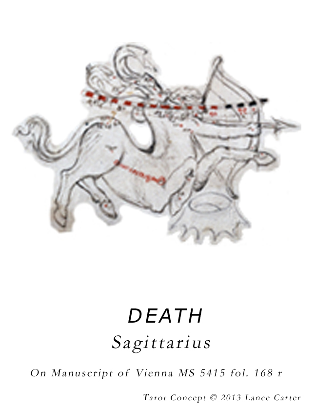 Sagittarius flipped MS 5415 fol 168 r=DEATH by piecework