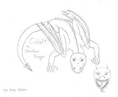 HTTYD OC: Cobalt, the Blaufeue Dragon by AnimeVeteran