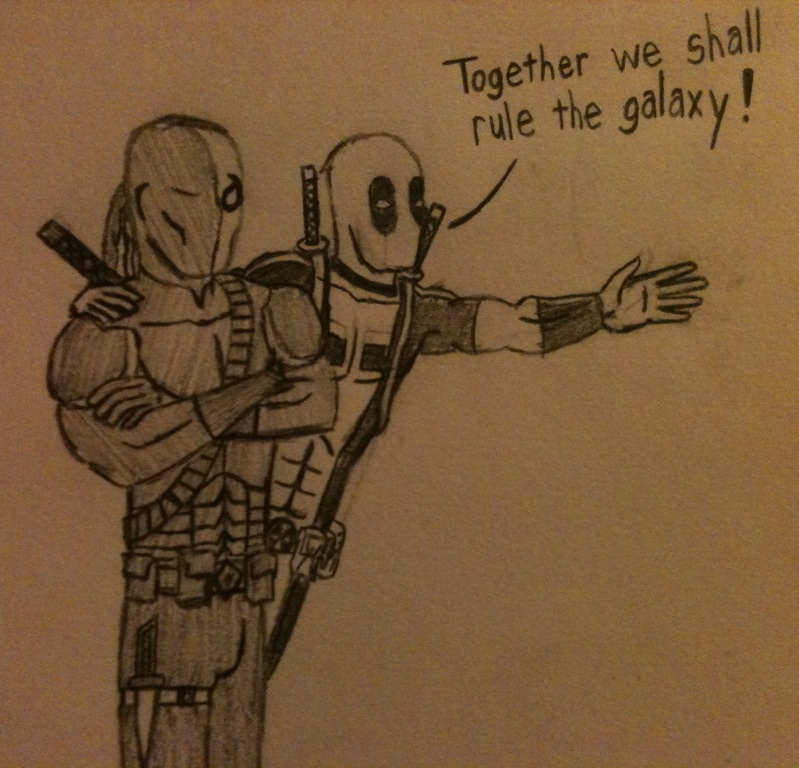 Deathstroke And Deadpool By GraysonRobin
