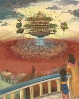 Hanging Gardens of Babylon by Ptirat