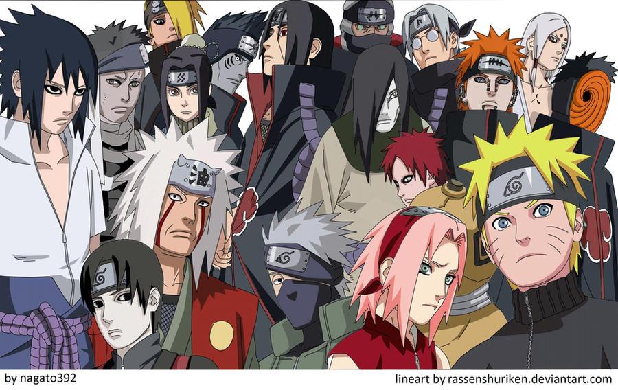 Naruto Characters By Nagato392