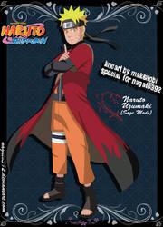 Naruto Uzumaki SAGE MODE 1 by nagato392
