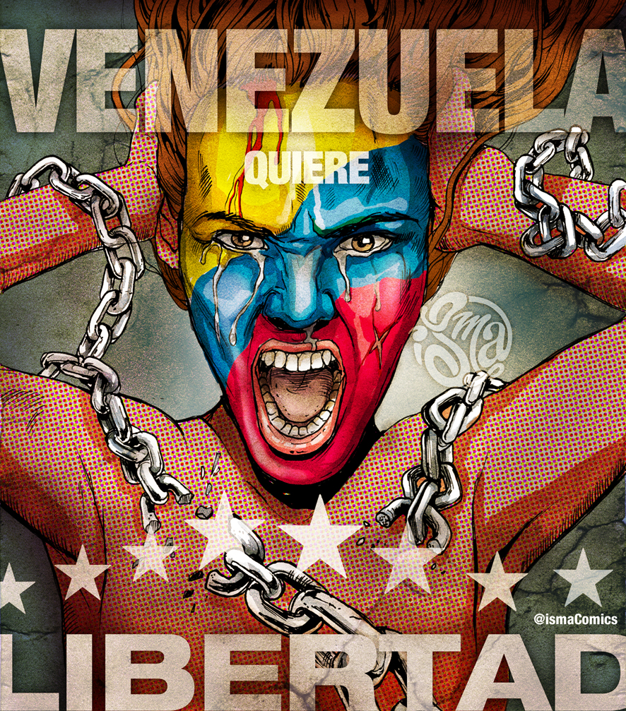 Venezuela wants Freedom by ismaComics