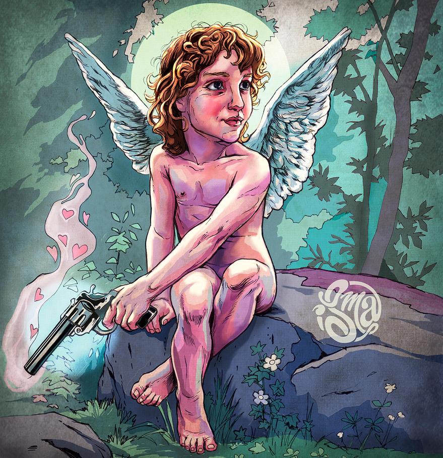 Cupid carries a gun by ismaComics