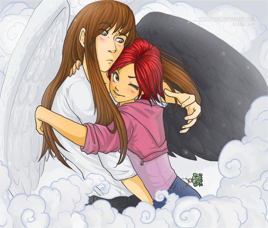 Surprise hug by kiesu on DeviantArt