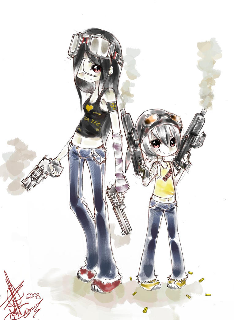Guns, Goggles and Blue Jeans by JohnDoeHanibari