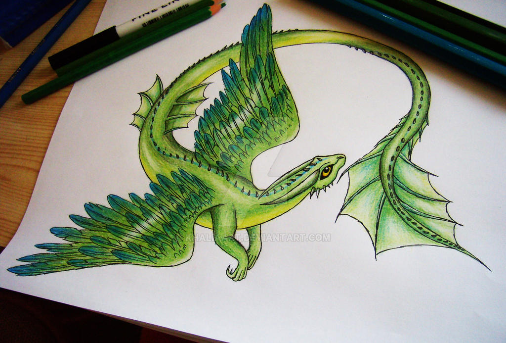 earthwind dragon by khaliaart on deviantart