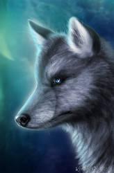Wolf Vision by KhaliaArt