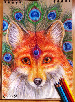 Bris the Fox illusionist by KhaliaArt