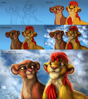 Kion and Rani - step by step