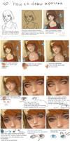 How to draw a portrait ^_^ tutorial by Nieris