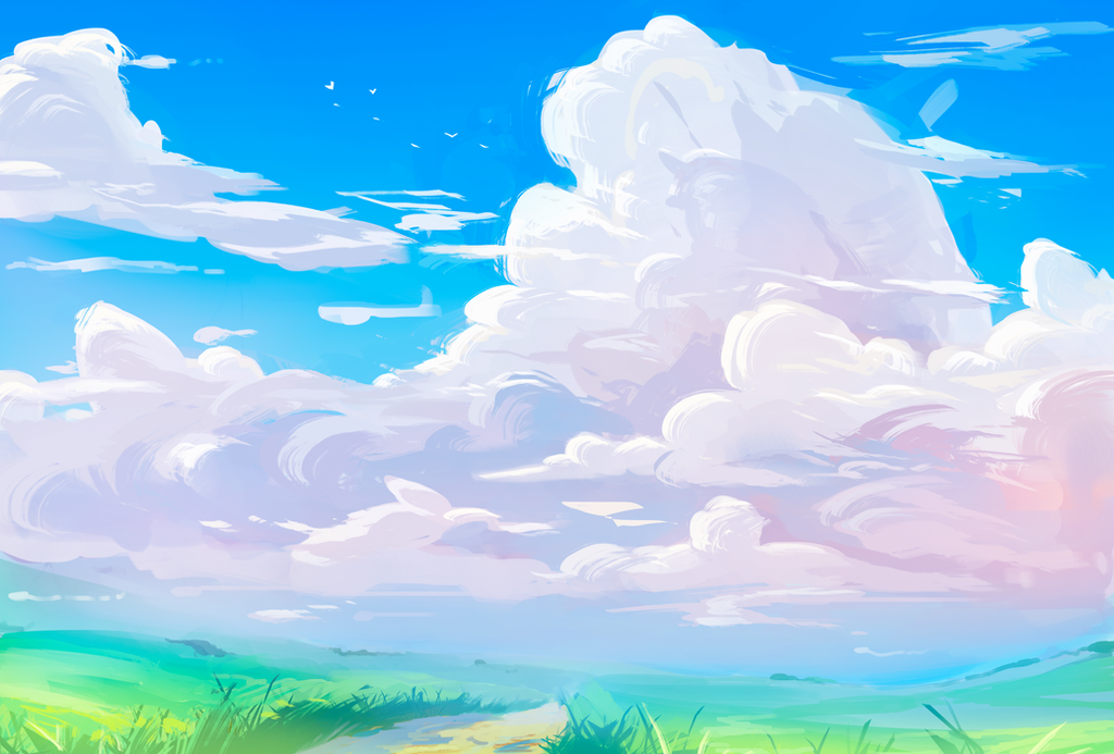 Tumblr Backgrounds Blue Clouds