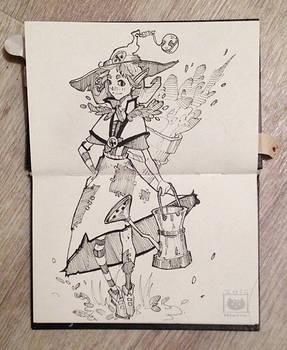 Garden Witch (Inktober 1/31) by Nieris