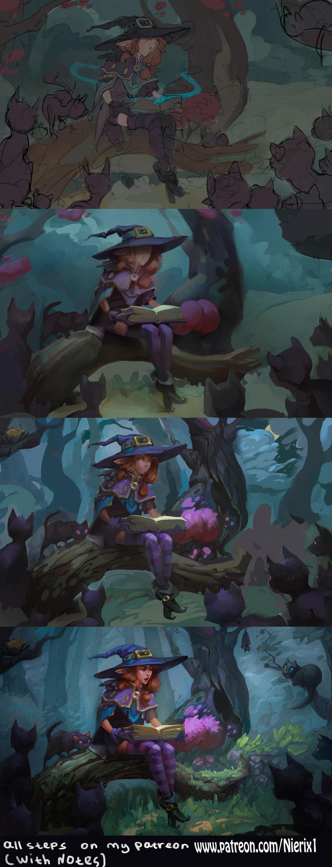 Fairy Tale (Step by, step first patreon reward ^^)