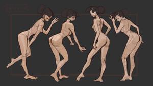 Gesture Basic poses (Bent down)