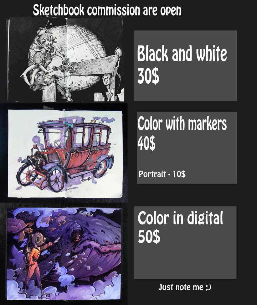 Sketchbook commission price by Nieris