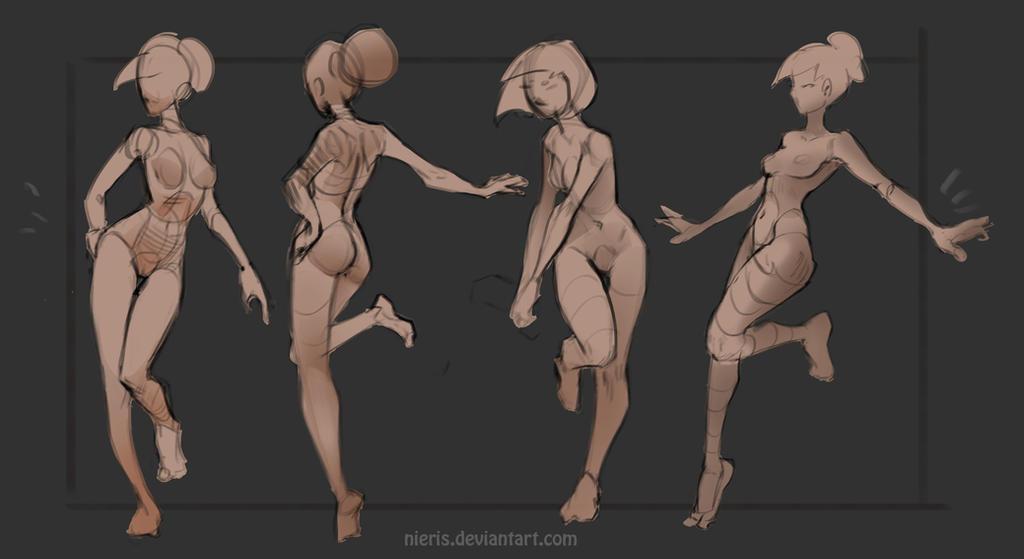 Basic poses(Theme-Leg up) by Nieris
