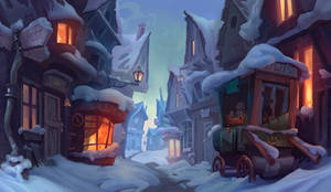 Hogsmeade (Harry Potter Fan art ^_^ ) by Nieris