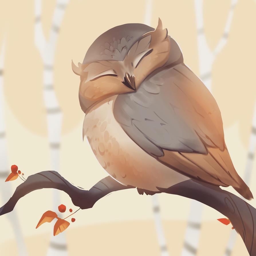 Happy owl by Nieris