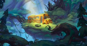 Bus in the magical forest