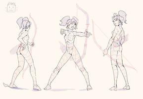 Archer`s poses