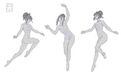 Flying (poses studies)