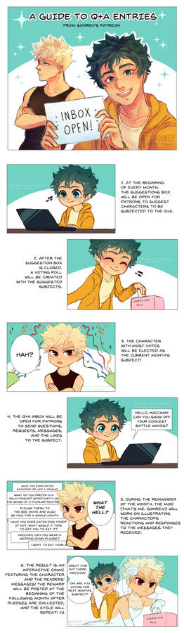 (BNHA) Q+A guide comic for Patreon!
