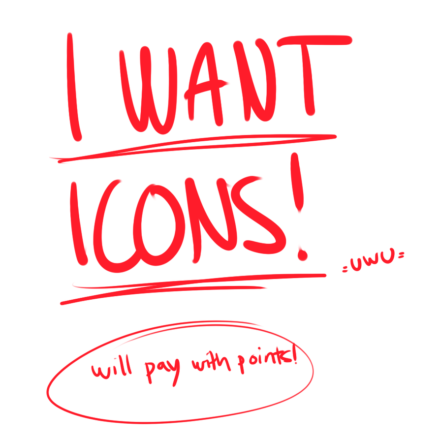 I WANT ICONS by Steposaurus