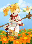 White Mage Lalafell - Walking in the garden