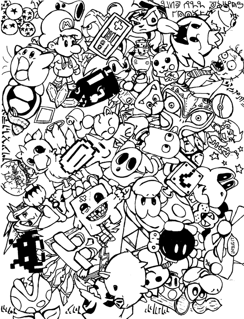 Doodle Art Coloring Pages For Kids Images