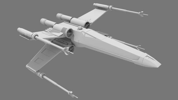X wing 3d model
