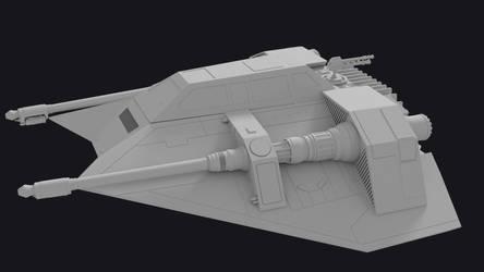 Star Wars Snowspeeder 3D model