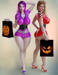 Regina and Adriana Halloween
