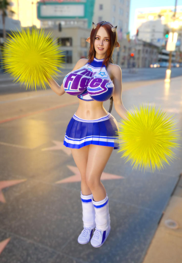 Milly Strong Cheerleader outfit by ArchivistOmega