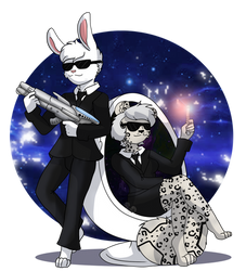 Furries In Black by WintersSnowBlossom