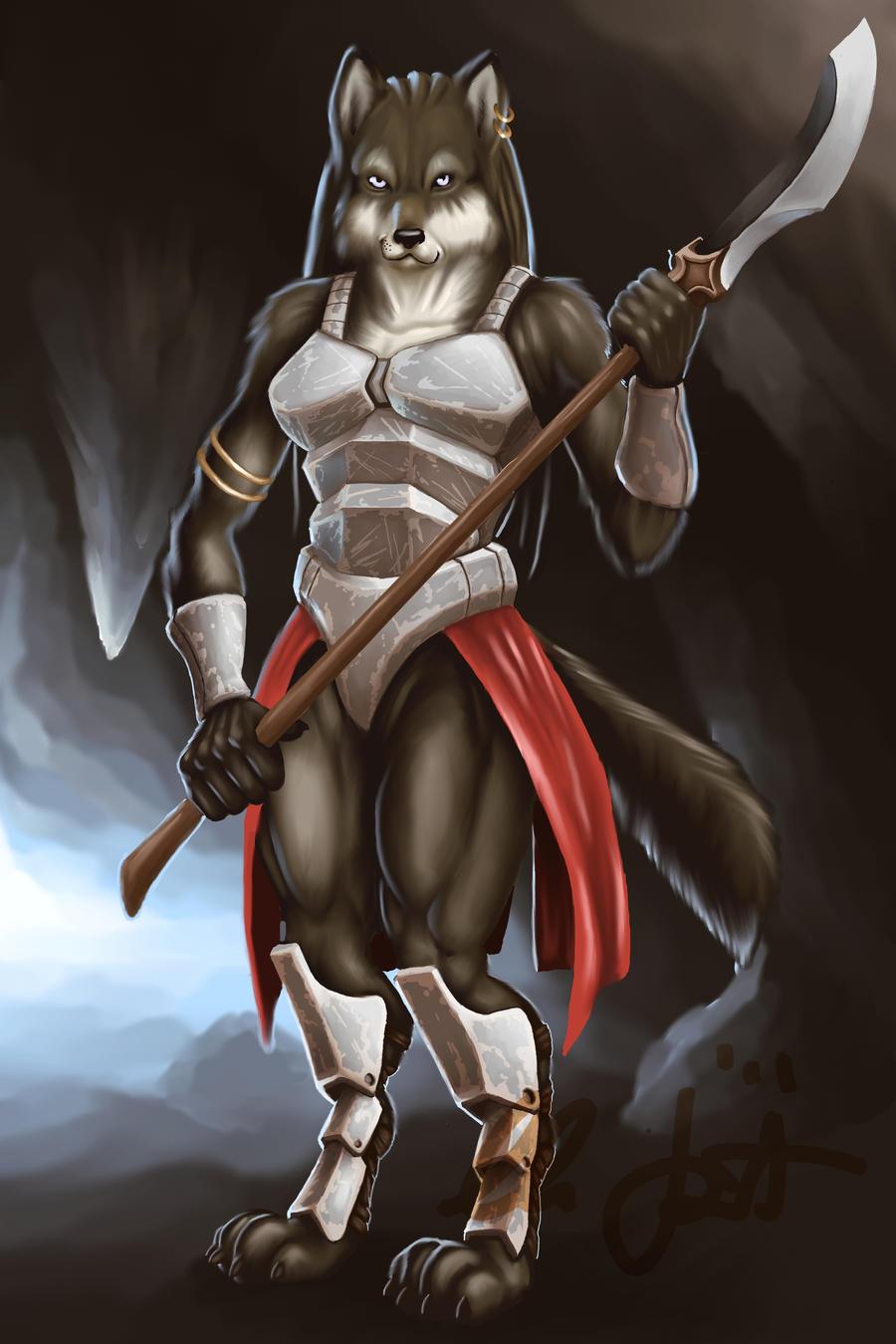 Anthro Wolf Soldier Wolf Soldier by Doffa