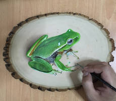 Painting a frog by ivanhooart