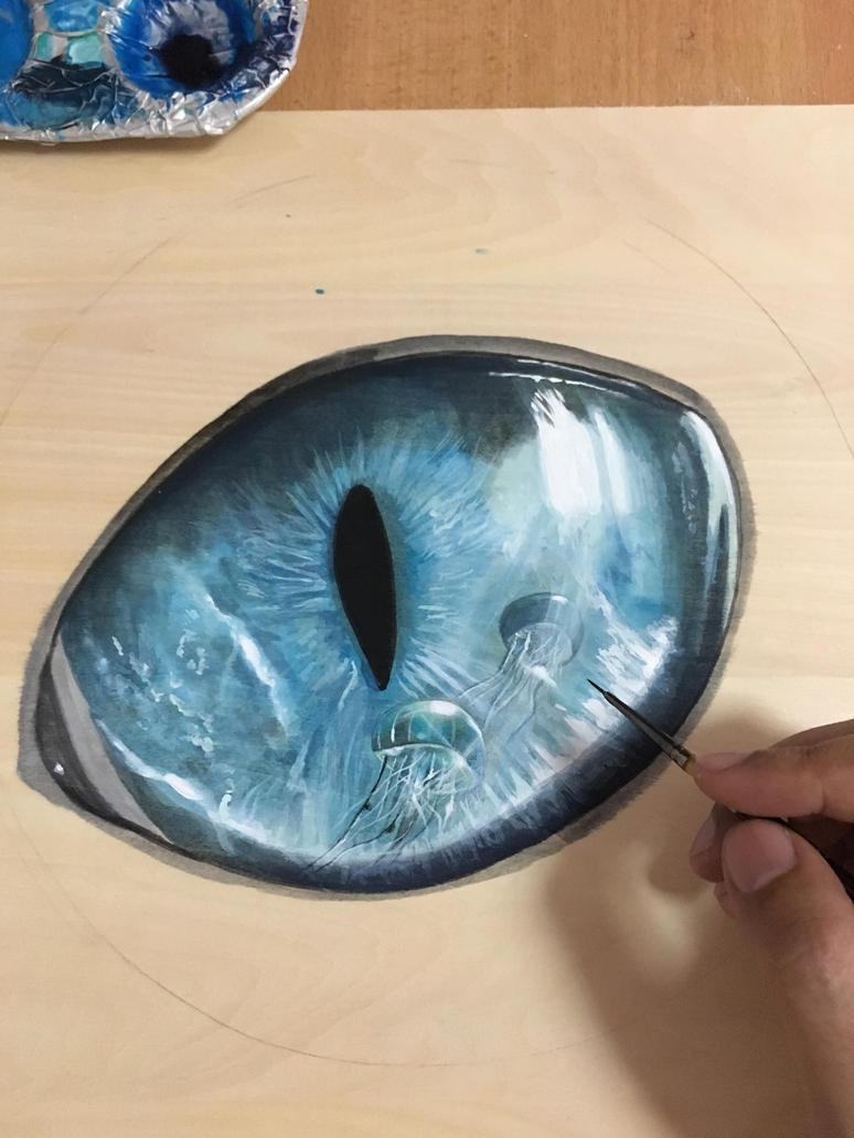 Jellyfish Eye.Work In Progress by ivanhooart