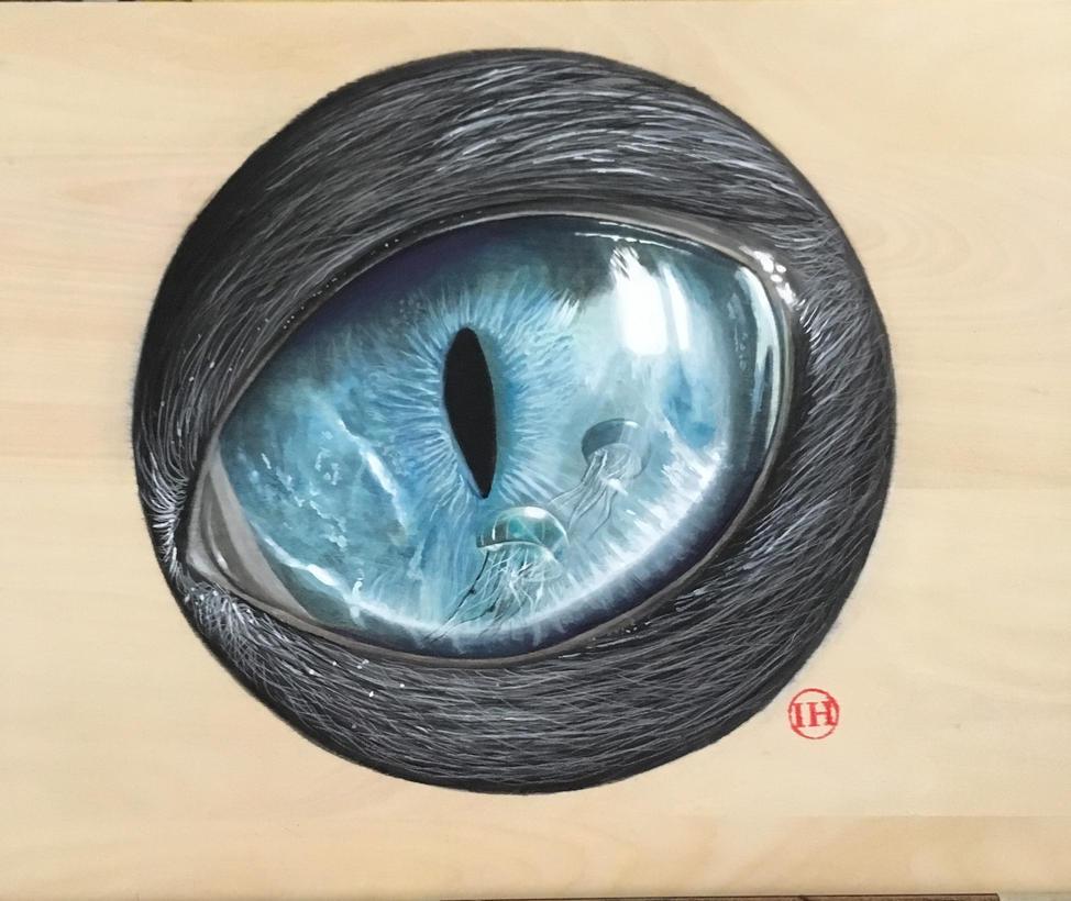 Jellyfish Eye by ivanhooart
