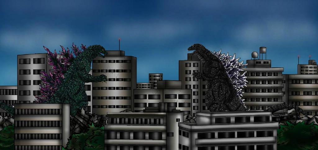 Godzilla 2000 vs GMK Godzilla by ltdtaylor1970