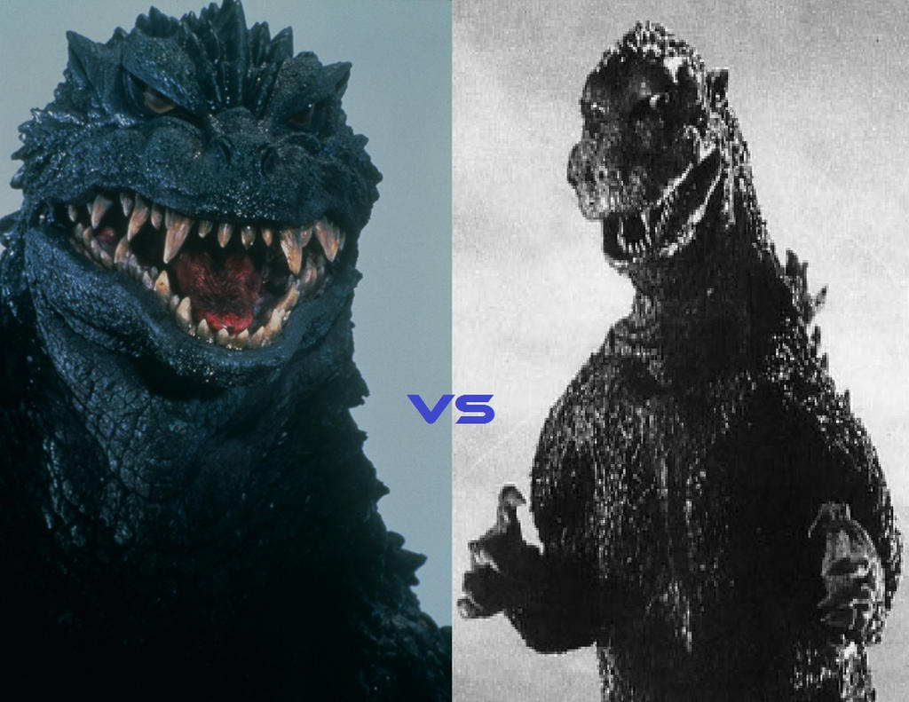 Godzilla 2000 vs Godzilla 1954 by ltdtaylor1970 on DeviantArt