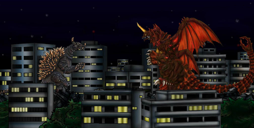 Angurirus  vs Destroyah by ltdtaylor1970