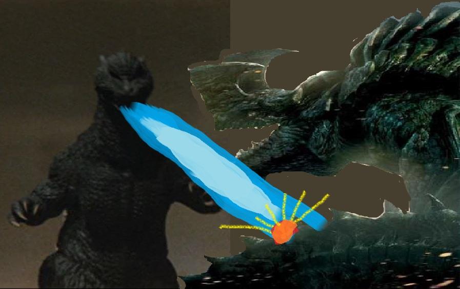 Godzilla 2004 vs Otachi by ltdtaylor1970