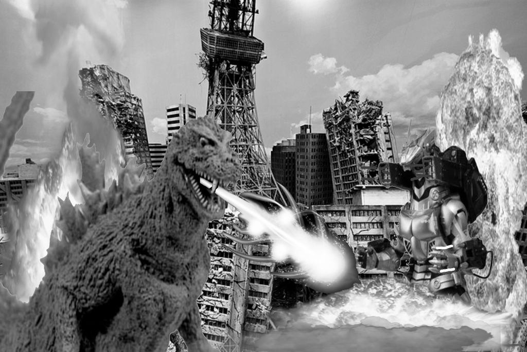 Godzilla 1954 vs Kiryu by Ltdtaylor1970 on DeviantArt