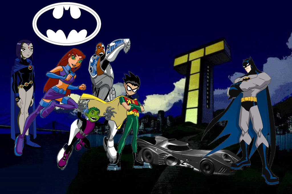 Teen Titans Meets Batman By Ltdtaylor1970 On Deviantart-3993