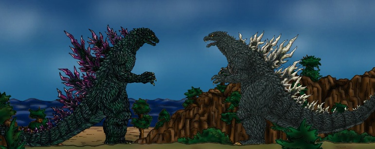 Godzilla 2000 vs Godzilla 2002/2003 (Scar) by ...