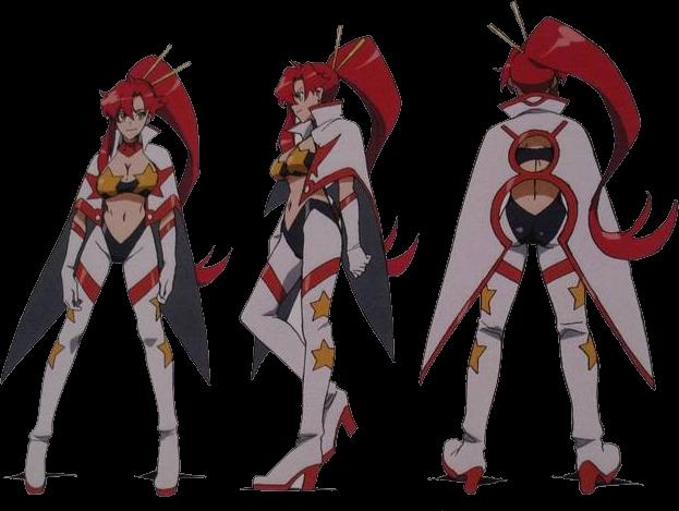 Timeskip Yoko in Super galaxy dai-gurren spacesuit by ...