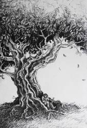 Beneath the Old Oak by FrerinHagsolb