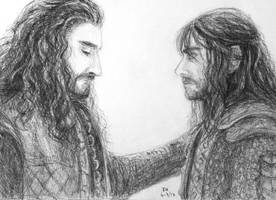 Thorin and Kili (sketch) by FrerinHagsolb